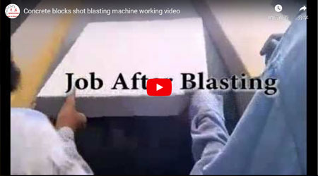 Concrete Blocks Shot Blasting Machine Working Video