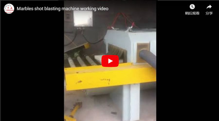 Marbles Shot Blasting Machine Working Video