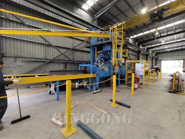 h beam shot blasting machine 1