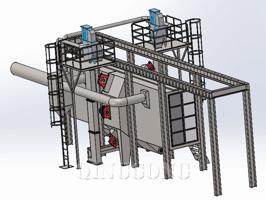 tunnel type shot blasting machine 4