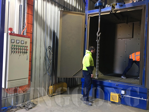 hanger type shot blasting machine in Australia 2