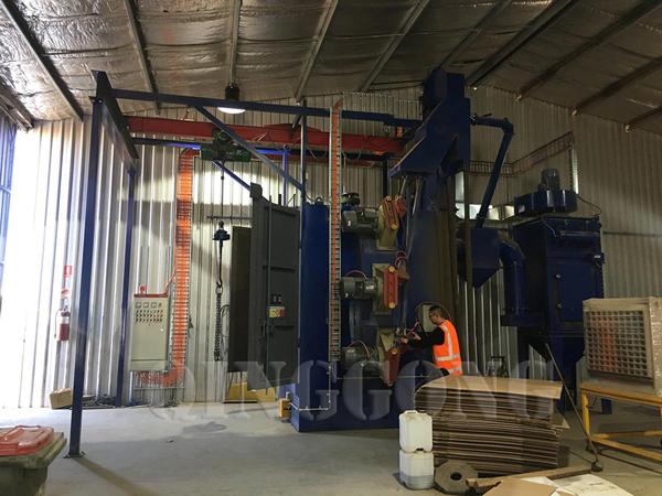 hanger type shot blasting machine in Australia 1