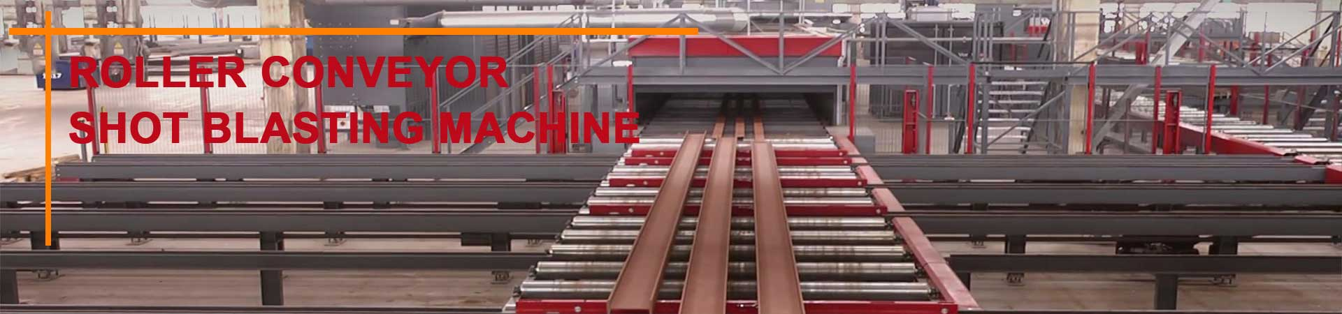qinggong roller conveyor shot blasting machine