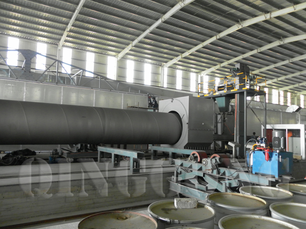 appliance of shot blasting machine for pipes industry 4