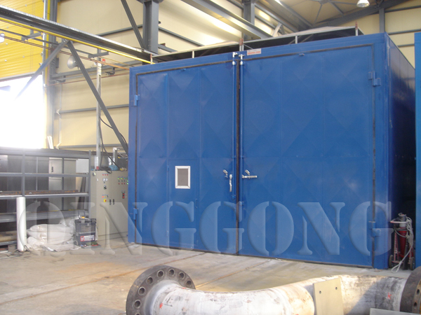 sandblasting room for building industry