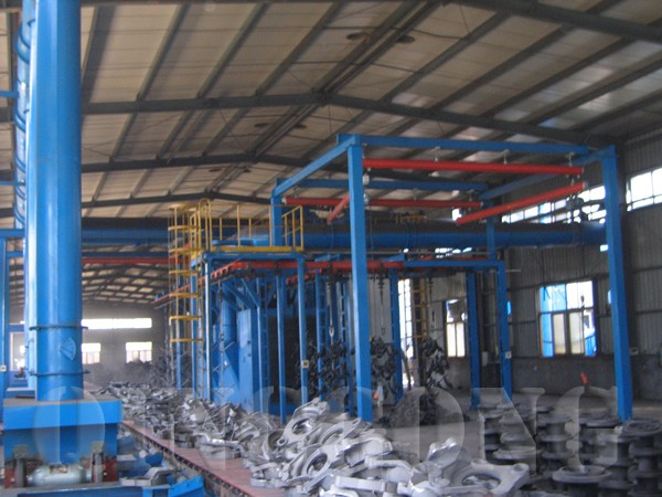 overhead rail shot blasting machine by QINGGONG Machinery