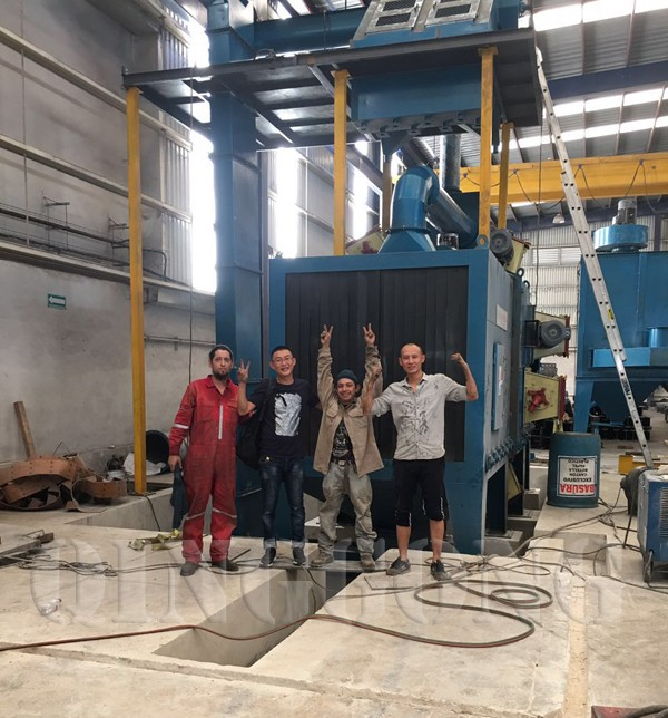 roller conveyor shot blasting machine in Mexico 1