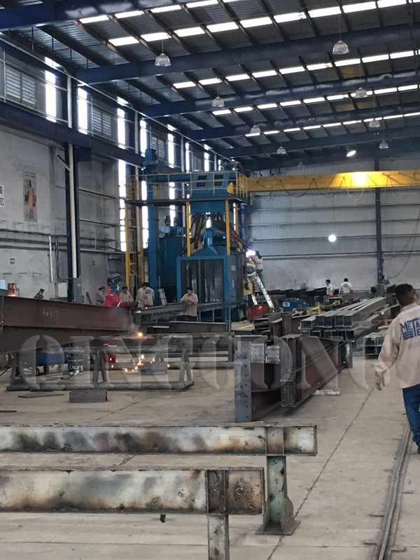 roller conveyor shot blasting machine in Mexico 2