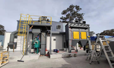 Sandblasting Room Delivery to Australia