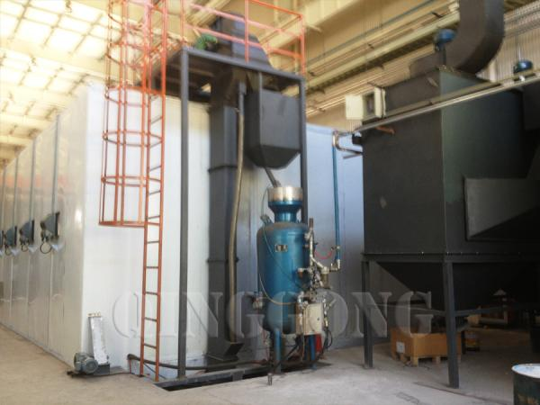 Industrial sandblasting enclosures