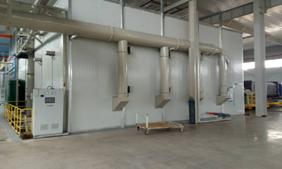 Sandblasting room in Russia