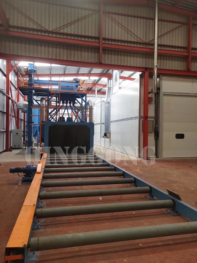 Picture of Roller Conveyor Shot Blasting Machine