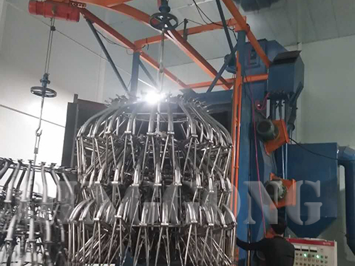 Tricycle Frame Hanger Type Shot Blasting Machine