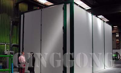 Sandblasting Room for Romania Customer
