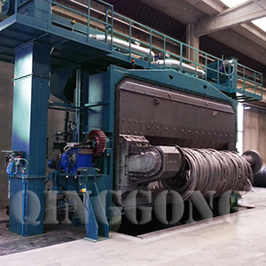 Wire Rod Coil Shot Blasting Machine