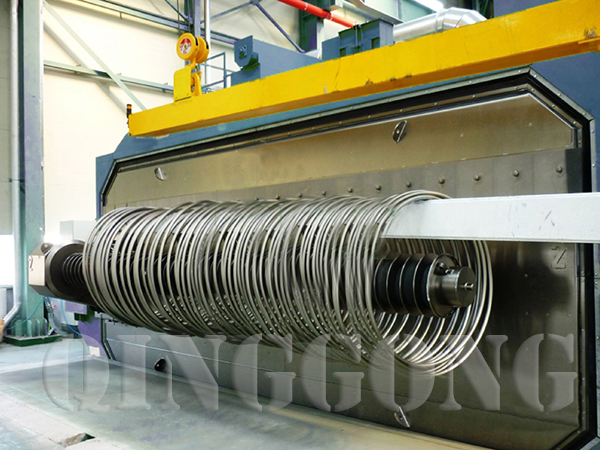 wire rod coil shot blast machine