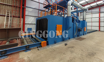 Application of Welding Bed Shot Blasting Machine