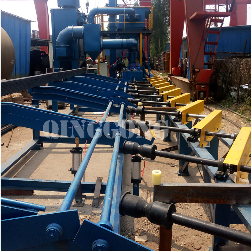Steel bar shot blasting machine for Canada Customer 3