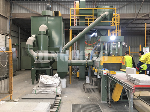 Granite stone shot blasting machine