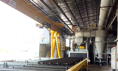 Shot blasting and painting line for Malaysia customer