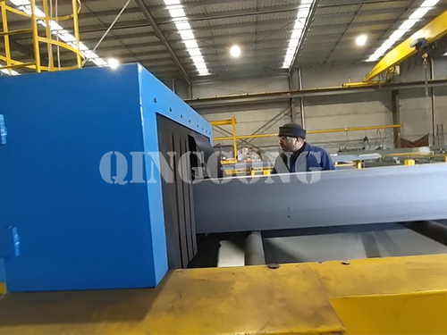 Steel beam roller conveyor shot blasting machine