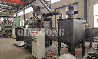 Weld assembly rotary table shot blasting machine for Egypt customer