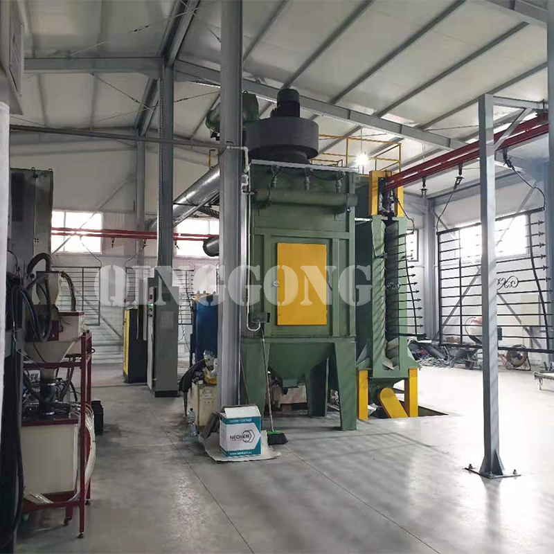 Hanger chain continuous shot blasting machine for Romania customer2.jpg