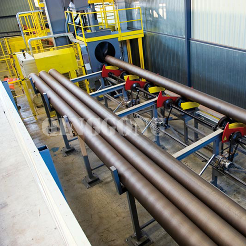 What should be paid attention to about the infrastructure of the exterior steel pipes blasting machine 4.jpg