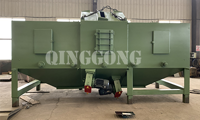 Roller conveyor shot blasting machine for Argentine customer