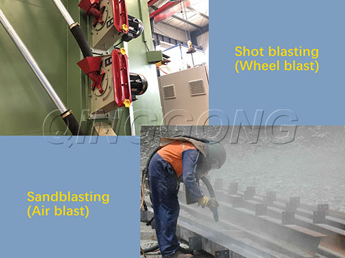 What is shot blasting and sandblasting, and what is the difference?