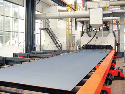 How to avoid daily problems with the roller conveyor through type shot blasting machine