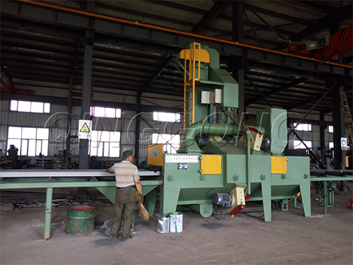 How to debug the roller conveyor shot blasting machine?