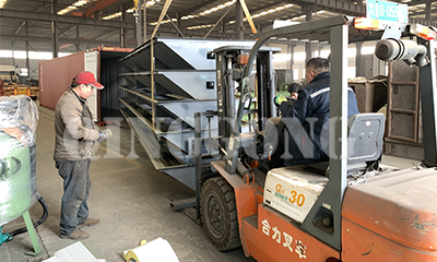 Sandblasting room scraper recovery system shipped to Egypt