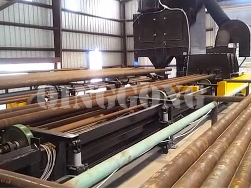 Steel pipe inner wall shot blasting machine brief introduction