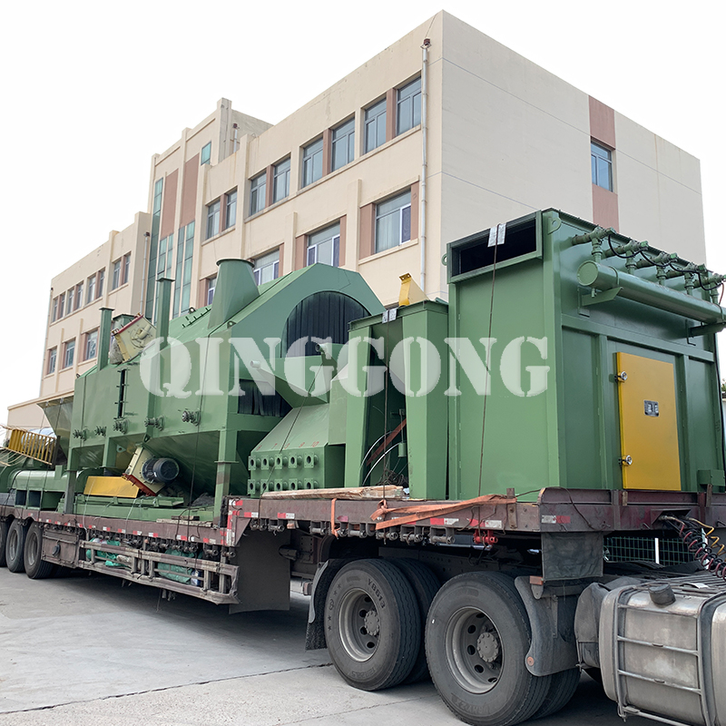 Roller conveyor shot blasting machine delivery site 3.jpg